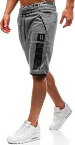 Krótkie spodenki dresowe męskie szare denley 80170