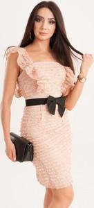 Sukienka Butik Ecru prosta mini