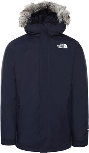Granatowa kurtka The North Face krótka w stylu casual