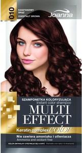 Joanna Multi Effect Color Keratin Complex szamponetka do każdego typu włosów 10 kasztanowy brąz 35 g