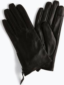 Czarne rękawiczki someday. ze skóry