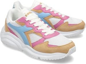 Sneakersy Diadora z płaską podeszwą sznurowane