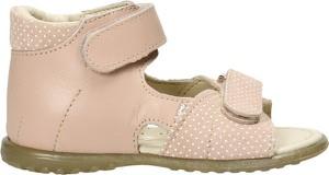 Buty dziecięce letnie EMEL dla dziewczynek ze skóry na rzepy