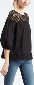 Bluzka Levis z długim rękawem z okrągłym dekoltem z bawełny