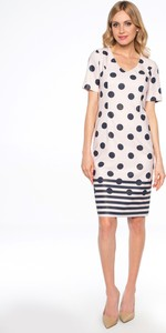 Sukienka POTIS & VERSO midi z krótkim rękawem