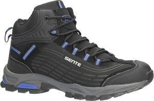Czarne buty trekkingowe Casu sznurowane w sportowym stylu