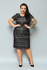Czarna sukienka KARKO midi z tiulu ołówkowa