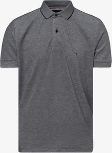 Niebieska koszulka polo Tommy Hilfiger z krótkim rękawem w stylu casual z dżerseju