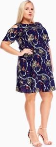 Sukienka Fokus w stylu casual mini dla puszystych