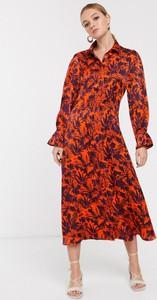 Pomarańczowa sukienka Glamorous szmizjerka