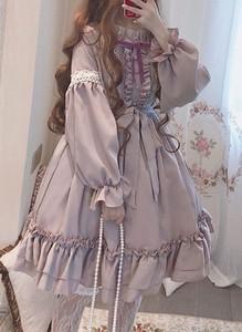 Różowa sukienka Cikelly mini z długim rękawem