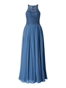 Niebieska sukienka Laona z satyny