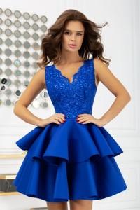 Niebieska sukienka Bicotone bez rękawów