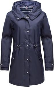 Granatowy płaszcz Marinepool w stylu casual