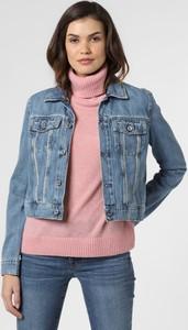 Niebieska kurtka Guess Jeans w młodzieżowym stylu