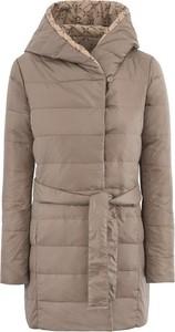Brązowa kurtka Ochnik z tkaniny w stylu casual
