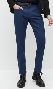 Niebieskie spodnie Reserved z bawełny