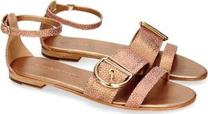 Brązowe sandały Melvin & Hamilton z klamrami w stylu klasycznym ze skóry