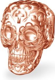 GIORRE Srebrny koralik zawieszka charms CZASZKA cukrowa srebro 925 : Kolor pokrycia srebra - Pokrycie Różowym 18K Złotem