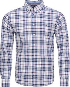 Koszula Tommy Hilfiger z kołnierzykiem button down z lnu w stylu casual