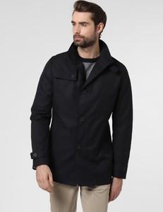 Czarny płaszcz męski Cinque