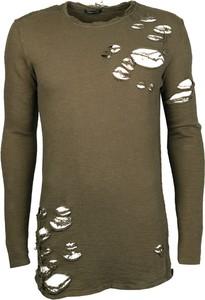 Zielony sweter xagon man z długim rękawem z tkaniny