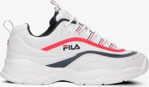 Buty sportowe Fila sznurowane na obcasie