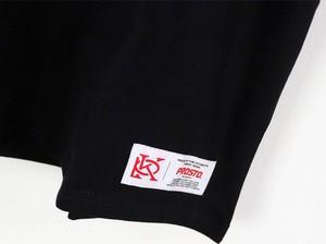 Czarny t-shirt Prosto. z bawełny z krótkim rękawem w młodzieżowym stylu