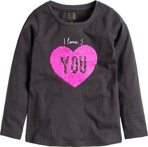 Brązowa bluzka dziecięca Cool Club z bawełny z długim rękawem