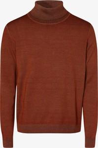Pomarańczowy sweter Andrew James New York z wełny