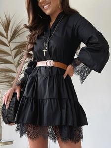 Sukienka Versada koszulowa z dekoltem w kształcie litery v mini