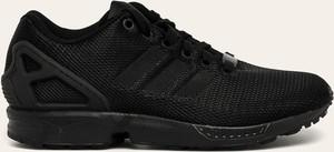 Buty sportowe Adidas Originals zx flux z płaską podeszwą z zamszu