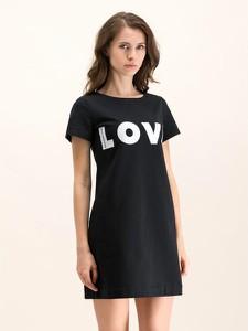 Sukienka Love Moschino mini z okrągłym dekoltem w stylu casual