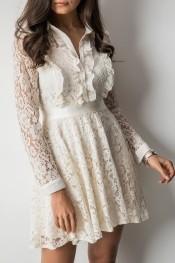8cd9be7f03 sukienka ecru z koronki - stylowo i modnie z Allani