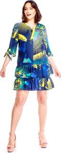 Sukienka BOG-MAR z długim rękawem z okrągłym dekoltem