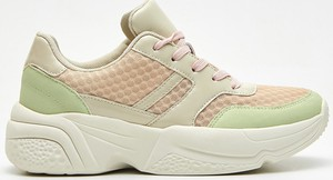 Sneakersy Cropp na platformie sznurowane w młodzieżowym stylu