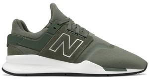 Zielone buty sportowe New Balance z zamszu