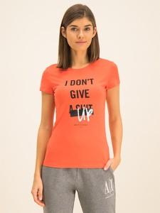 T-shirt Armani Exchange z okrągłym dekoltem w młodzieżowym stylu z krótkim rękawem