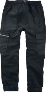 Czarne spodnie sportowe Emp w stylu casual z bawełny