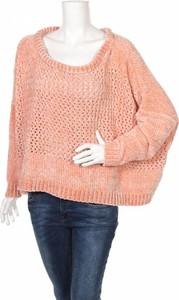 Różowy sweter Vero Moda w stylu casual