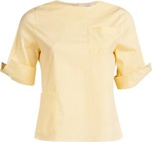 Żółta bluzka Veva z okrągłym dekoltem