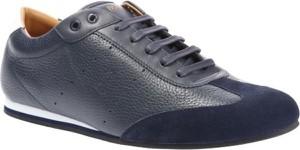Buty sportowe BOSS Casual ze skóry sznurowane w stylu casual