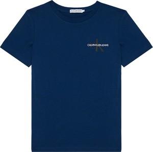 Niebieska koszulka dziecięca Calvin Klein z krótkim rękawem dla chłopców