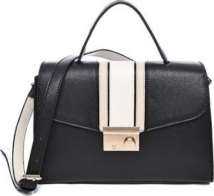 d712613fedfba Czarna torebka modneduzerozmiary.pl średnia ze skóry ekologicznej w stylu  glamour