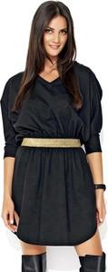 Sukienka Makadamia mini z długim rękawem z bawełny