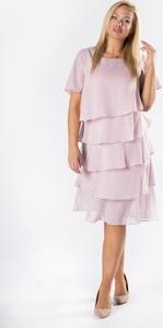 Różowa sukienka candivia.pl z tiulu