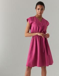 66df68e732 rozkloszowana sukienka dekolt v - stylowo i modnie z Allani