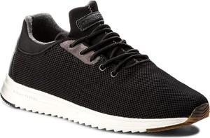 Czarne buty sportowe marc o'polo sznurowane ze skóry w sportowym stylu