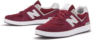 Czerwone buty sportowe New Balance z zamszu 574