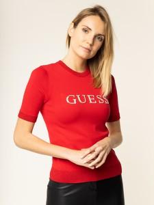 Czerwony sweter Guess w stylu casual